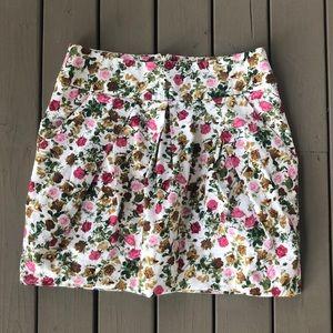 3/30$ F21 Floral Paperbag Skirt